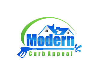 Modern Curb Appeal logo design concepts #11