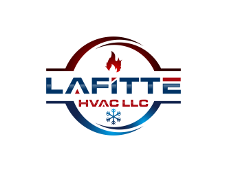 LaFitte HVAC LLC  logo design concepts #8