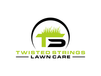 Twisted Strings Lawn Care logo design