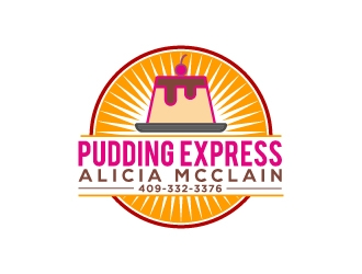 Pudding Express  logo design