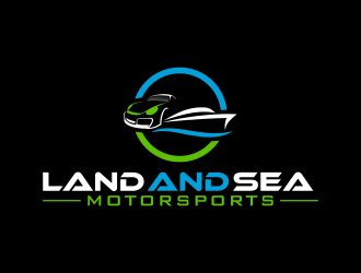 land and sea motorsports logo design concepts #13