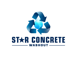 Star Concrete Washout logo design concepts #1