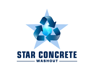 Star Concrete Washout logo design concepts #2