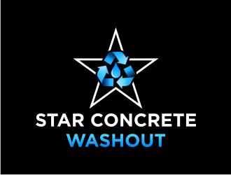 Star Concrete Washout logo design concepts #4