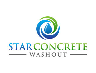 Star Concrete Washout logo design concepts #9