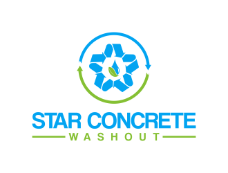 Star Concrete Washout logo design concepts #14