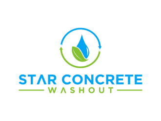Star Concrete Washout logo design concepts #15
