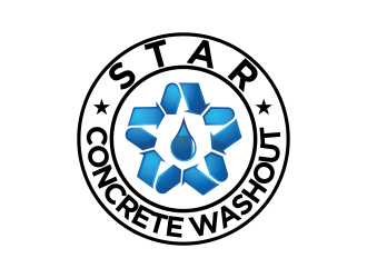 Star Concrete Washout logo design concepts #3