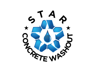 Star Concrete Washout logo design concepts #5