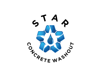 Star Concrete Washout logo design concepts #6