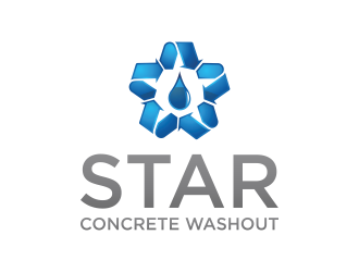 Star Concrete Washout logo design concepts #7