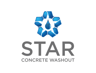 Star Concrete Washout logo design concepts #8