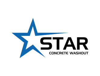 Star Concrete Washout logo design concepts #10