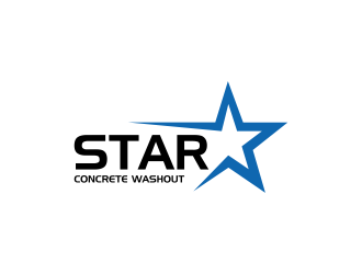 Star Concrete Washout logo design concepts #11