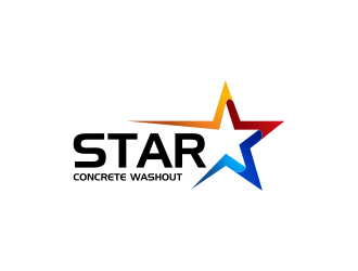 Star Concrete Washout logo design concepts #12