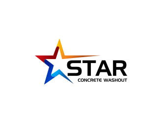 Star Concrete Washout logo design concepts #13