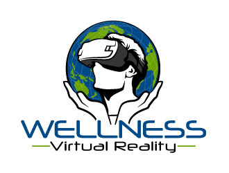 Wellness Virtual Reality  Logo Design