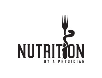 Nutrition by a Physician Logo Design