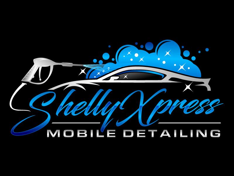 Shelly Xpress Mobile Detailing Logo Design