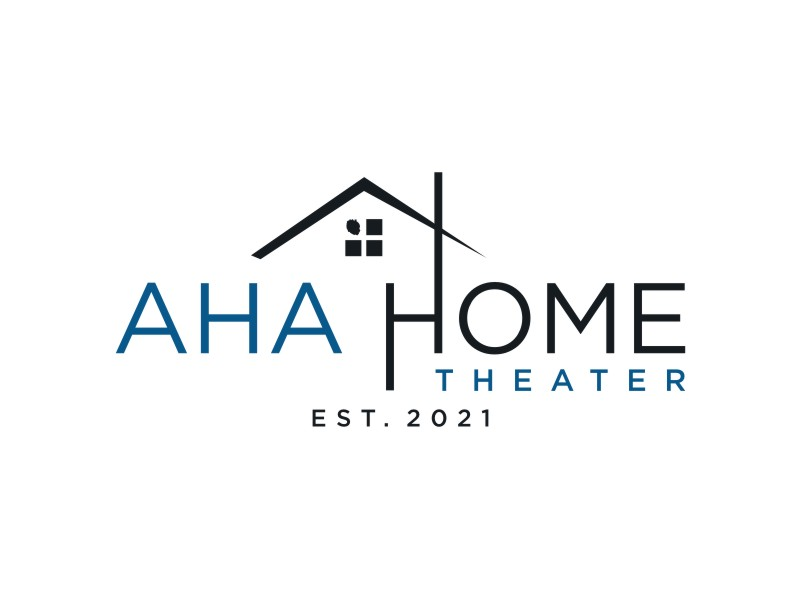 AHA Home Theater Logo Design