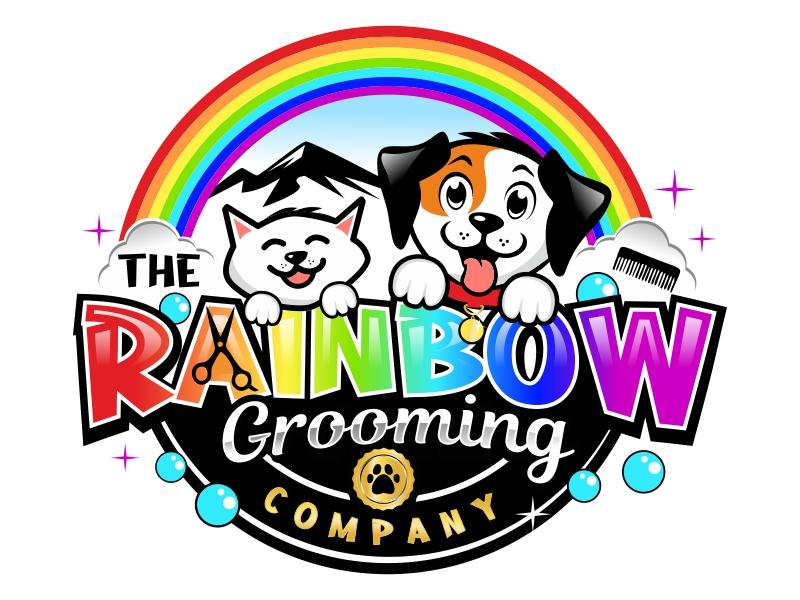 The Rainbow Grooming Company Logo Design