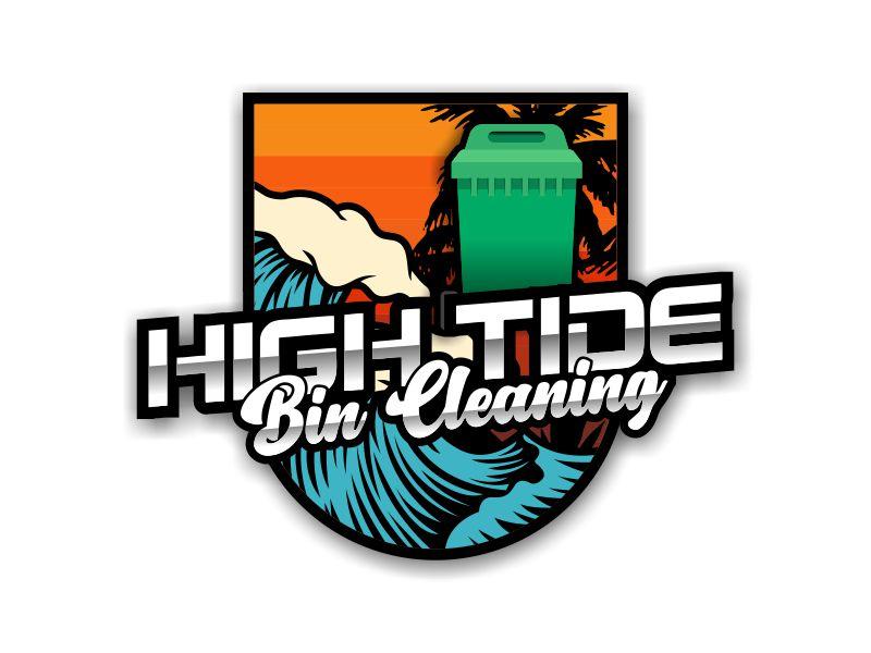 High Tide Bin Cleaning Logo Design