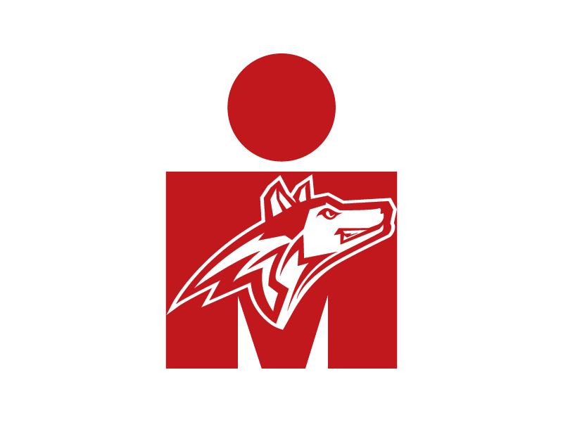 WolfPack Ironman Tattoo Logo Design