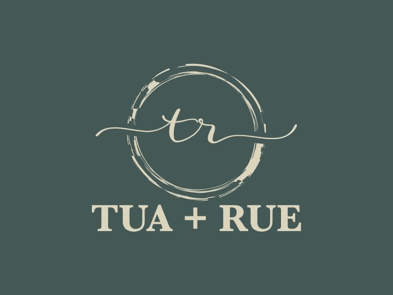 tua + rue Logo Design