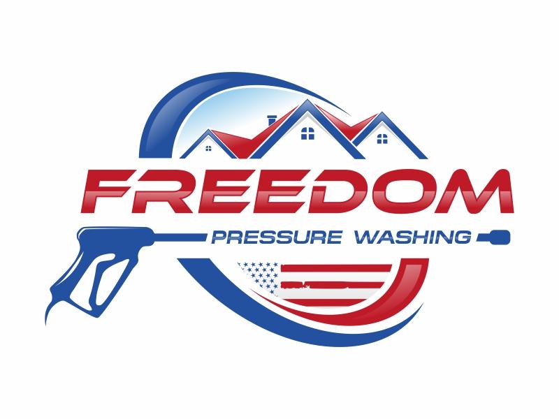 Freedom pressure washing Logo Design