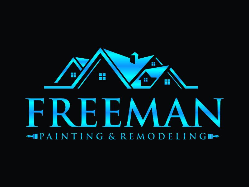 FREEMAN Painting & Remodeling Logo Design