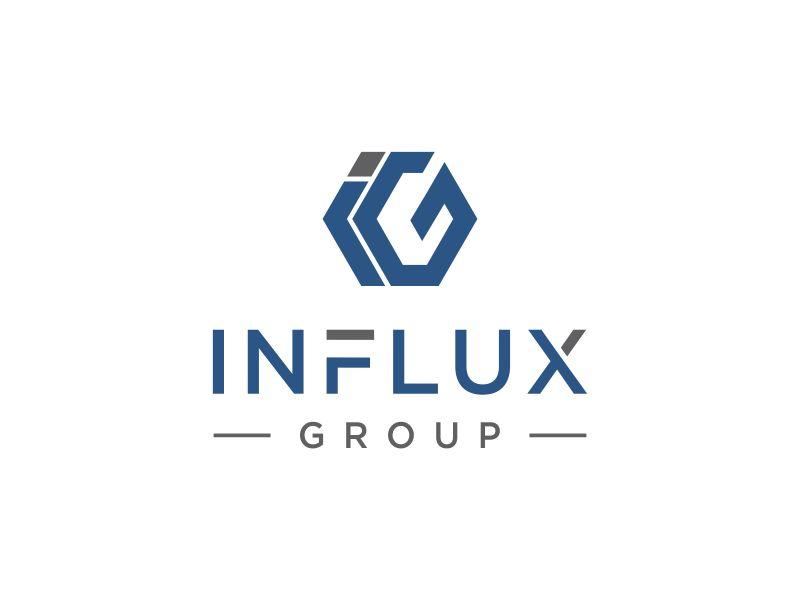 Influx Capital Logo Design