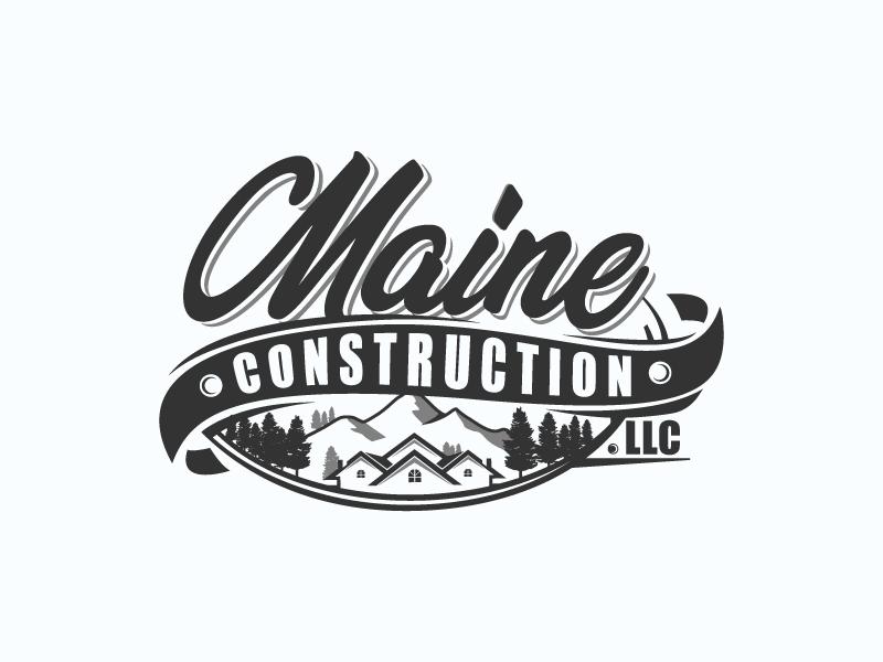 Maine Construction LLC logo design by Del Kaizer