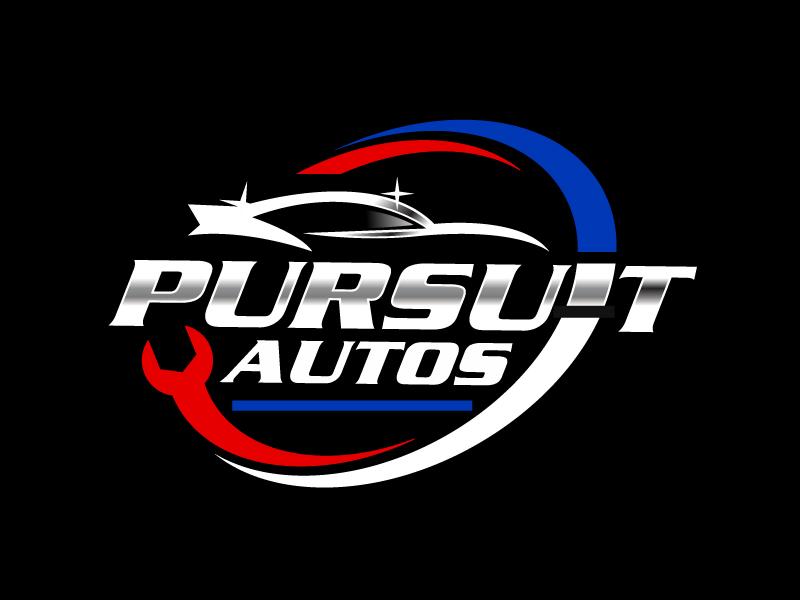 Pursuit Autos logo design by Foxcody