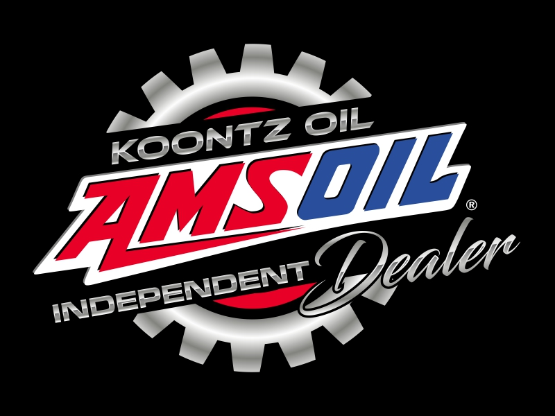 KOONTZ OIL  AMSOIL INDEPENDENT DEALER Logo Design
