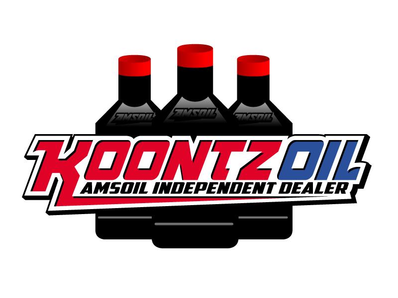 KOONTZ OIL  AMSOIL INDEPENDENT DEALER logo design by jaize