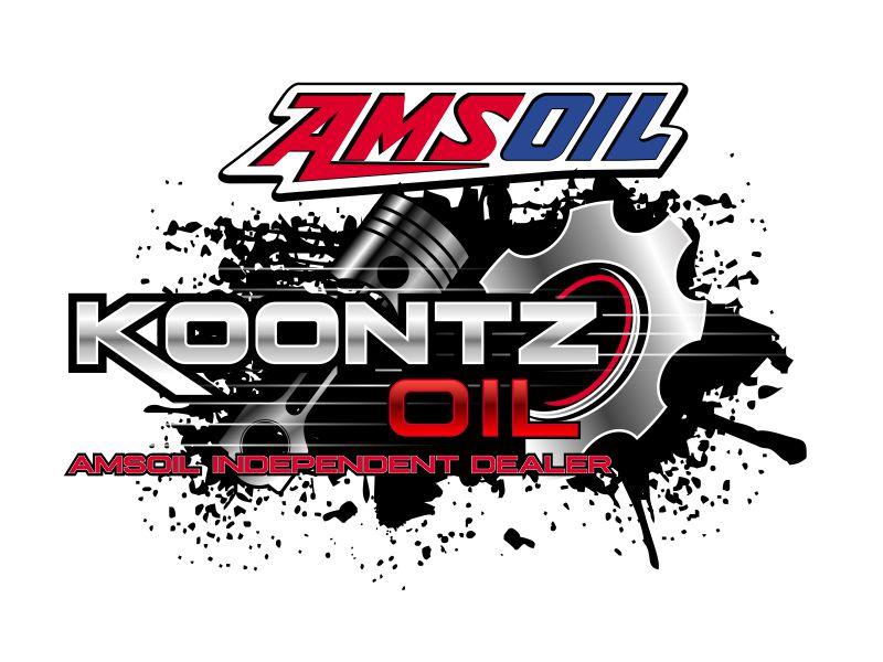 KOONTZ OIL  AMSOIL INDEPENDENT DEALER logo design by aladi