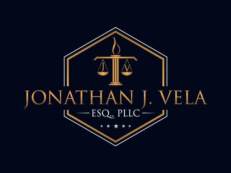 JONATHAN J. VELA, ESQ., PLLC logo design by Bambhole