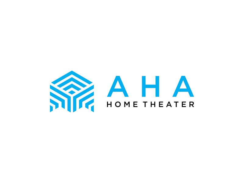AHA Home Theater logo design by valace