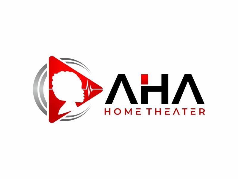 AHA Home Theater logo design by mutafailan