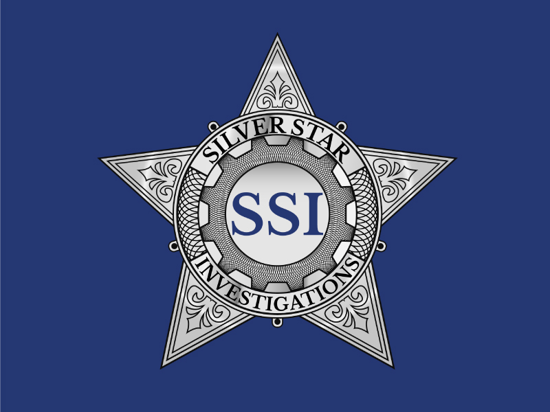 Silver Star Investigations logo design by Gerald Pelaez
