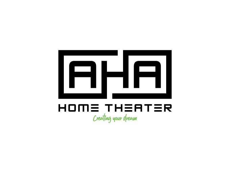 AHA Home Theater logo design by aganpiki