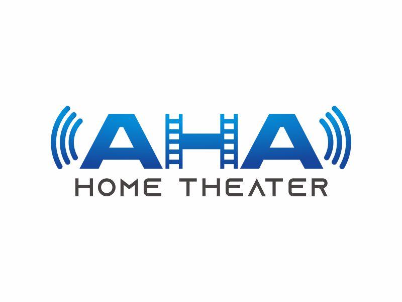 AHA Home Theater logo design by agus