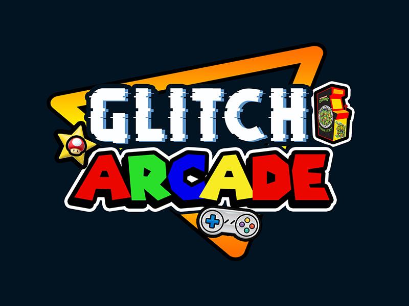 Glitch Arcade logo design by PrimalGraphics