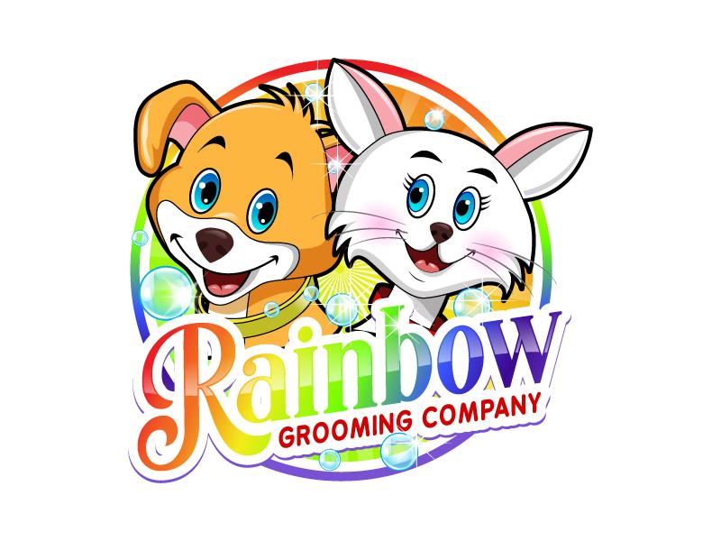 The Rainbow Grooming Company logo design by uttam