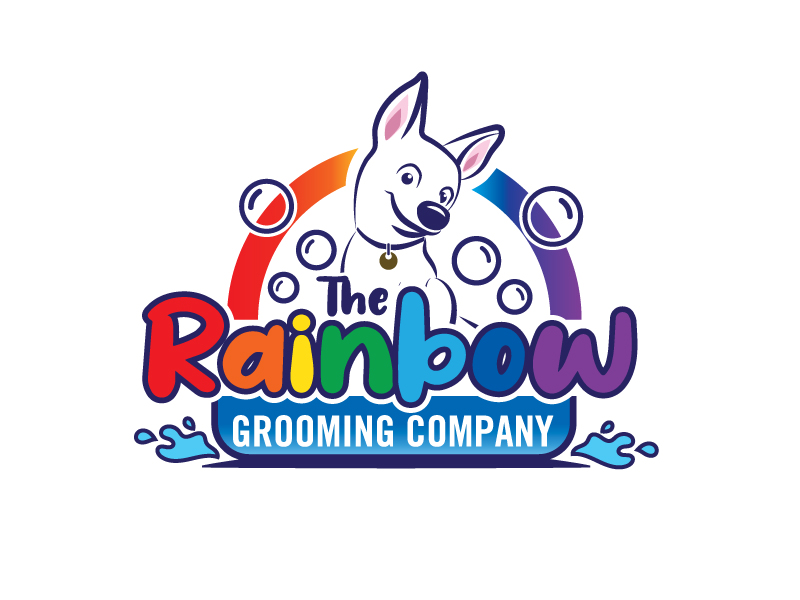The Rainbow Grooming Company logo design by Foxcody