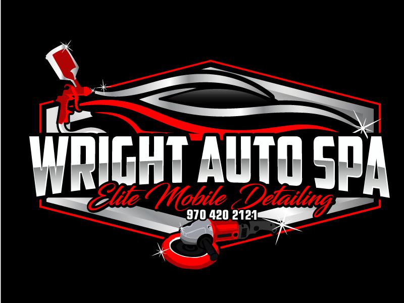 Wright Auto Spa elite Mobile detailing. 970 420 2121 Logo Design