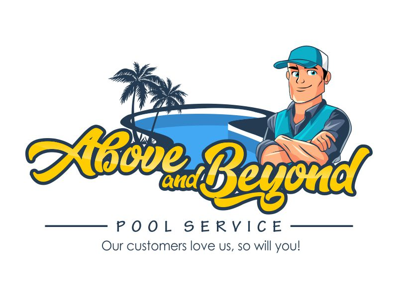 Above and Beyond Pool Service Logo Design