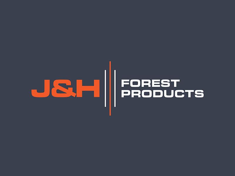 J&H Forest Products logo design by ndaru