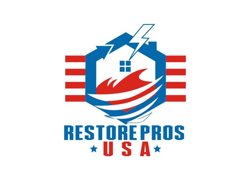 Restore Pros USA logo design by artomoro