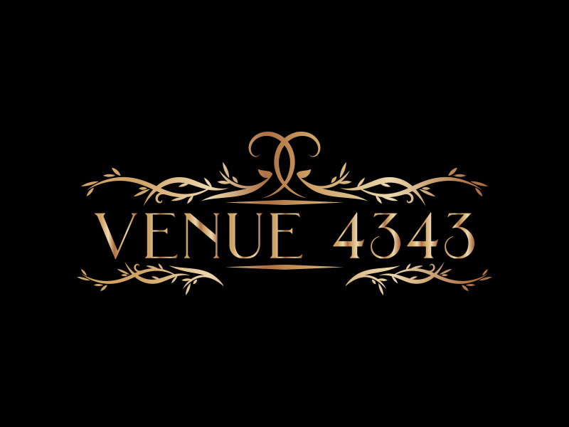 VENUE 4343 logo design by eddesignswork
